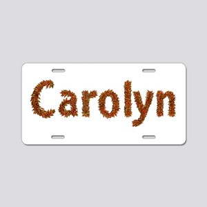 Carolyn Fall Leaves Aluminum License Plate
