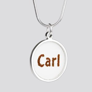 Carl Fall Leaves Silver Round Necklace