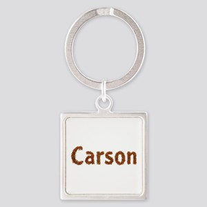 Carson Fall Leaves Square Keychain