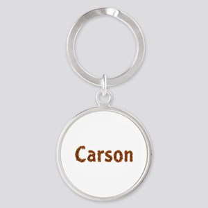 Carson Fall Leaves Round Keychain