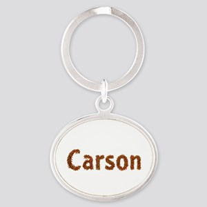 Carson Fall Leaves Oval Keychain