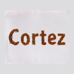 Cortez Fall Leaves Throw Blanket