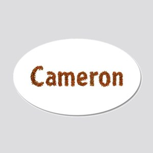 Cameron Fall Leaves 20x12 Oval Wall Decal