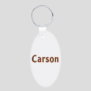 Carson Fall Leaves Aluminum Oval Keychain