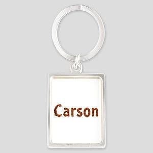 Carson Fall Leaves Portrait Keychain