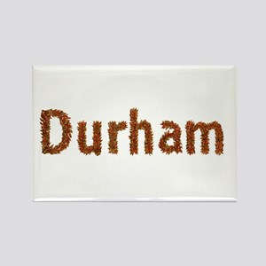 Durham Fall Leaves Rectangle Magnet