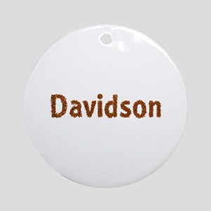 Davidson Fall Leaves Round Ornament