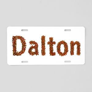 Dalton Fall Leaves Aluminum License Plate