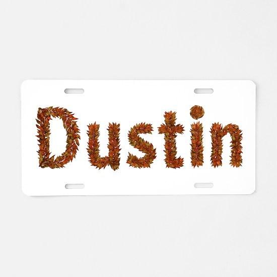 Dustin Fall Leaves Aluminum License Plate