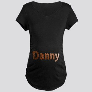 Danny Fall Leaves Maternity Dark T-Shirt