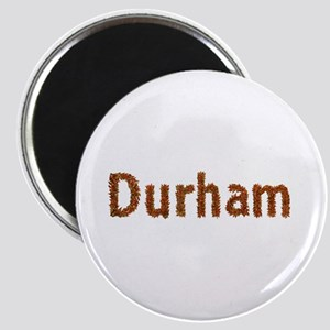 Durham Fall Leaves Round Magnet