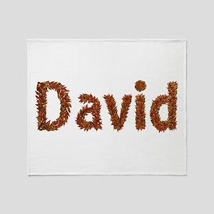 David Fall Leaves Throw Blanket