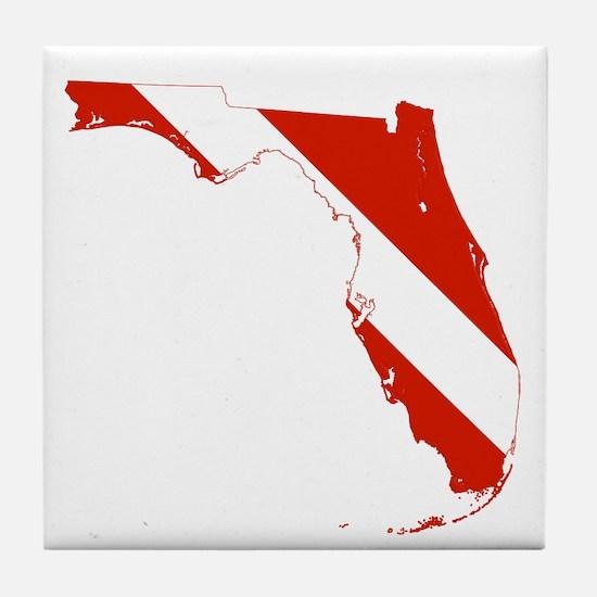 Florida Diver Tile Coaster