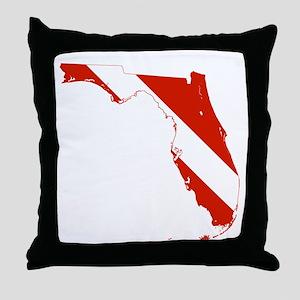 Florida Diver Throw Pillow