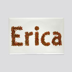 Erica Fall Leaves Rectangle Magnet