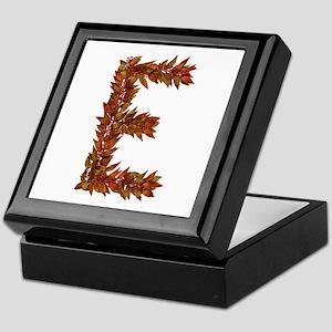 E Fall Leaves Keepsake Box