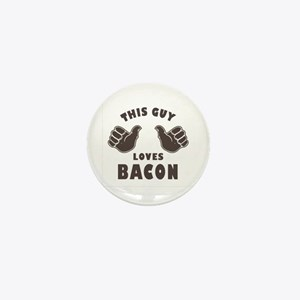 This Guy Loves Bacon Mini Button