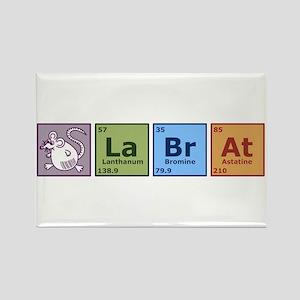 Periodic Lab Rat Rectangle Magnet