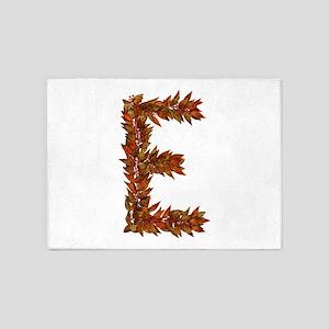 E Fall Leaves 5'x7' Area Rug