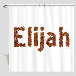 Elijah Fall Leaves Shower Curtain