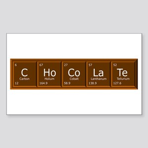 Chocolate periodic table rectangle stickers cafepress chocolate rectangle sticker urtaz Choice Image