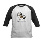 Sagittarius in Training Kids Baseball Jersey