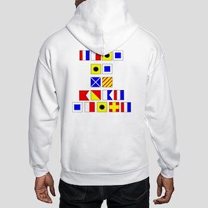 Hooded Sweatshirt Nautical Flags