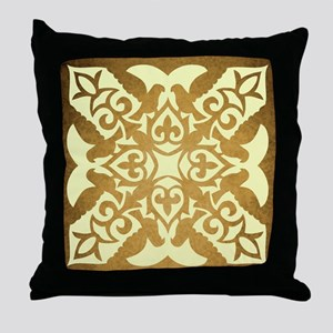 ELEGANT BRONZE Throw Pillow