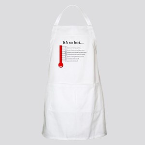 It's so hot jokes BBQ Apron