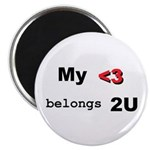 "My Heart belongs 2U 2.25"" Magnet (10 pack)"