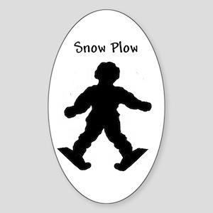 Snow Plow - Oval Sticker