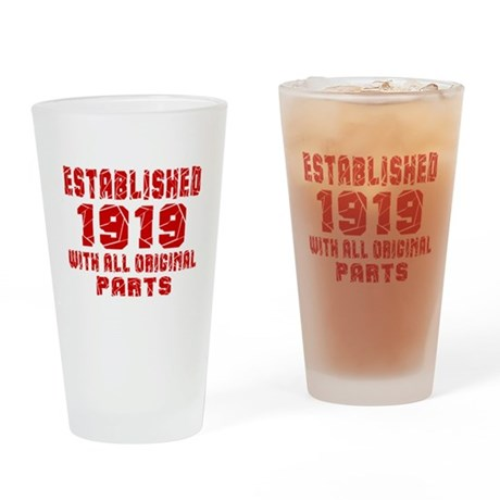 Established 1919 With All Original Drinking Glass