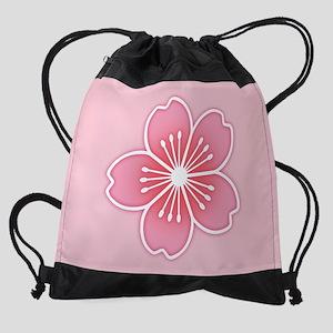 Cherry Blossom Drawstring Bag