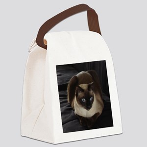 Lulú, the Siamese Cat Canvas Lunch Bag