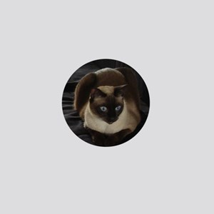Lulú, the Siamese Cat Mini Button