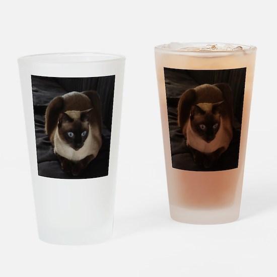 Lulú, the Siamese Cat Drinking Glass