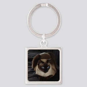 Lulú, the Siamese Cat Square Keychain