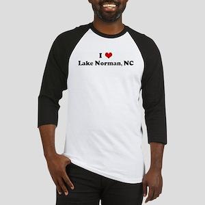 I Love Lake Norman, NC Baseball Jersey