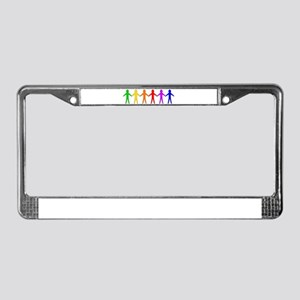 LGBT Cutout People License Plate Frame