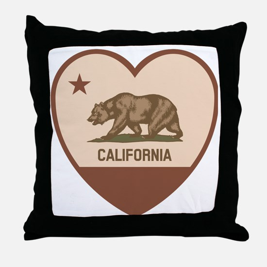 Love California - Retro Throw Pillow