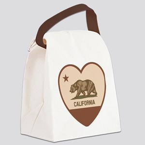 Love California - Retro Canvas Lunch Bag