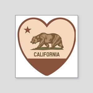 """Love California - Retro Square Sticker 3"""" x 3"""""""