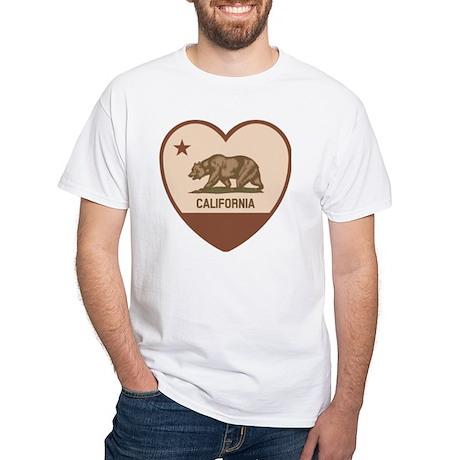 Love California - Retro White T-Shirt