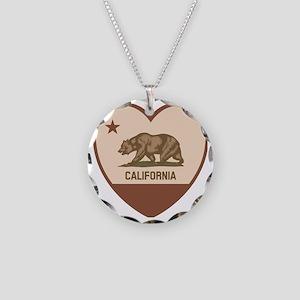 Love California - Retro Necklace Circle Charm