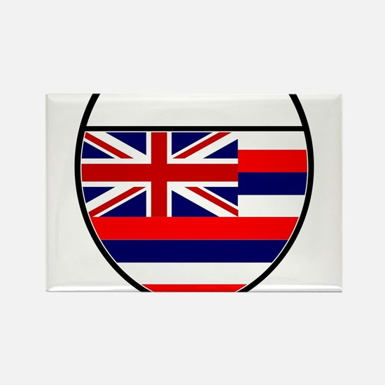 Hawaii Flag In An Interstate Sign Magnets