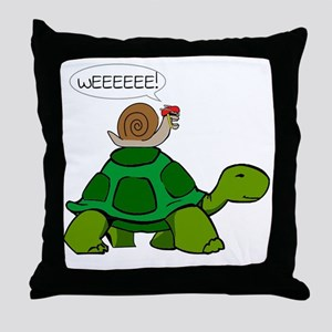 Snail & Turtle Throw Pillow