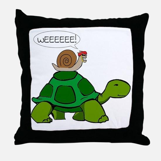 Snail & Turtle Throw Pillow