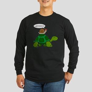 Snail & Turtle Long Sleeve Dark T-Shirt