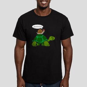 Snail & Turtle Men's Fitted T-Shirt (dark)