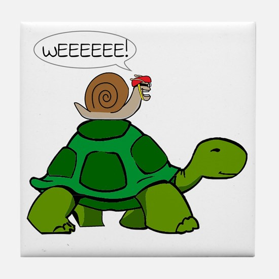 Snail & Turtle Tile Coaster